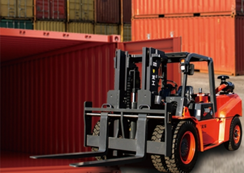 天水进箱专用6/8/10吨内燃平衡重式叉车